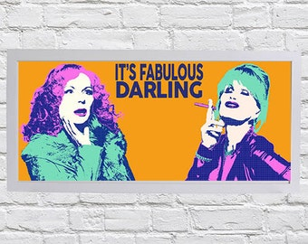 Absolutely Fabulous pop art print