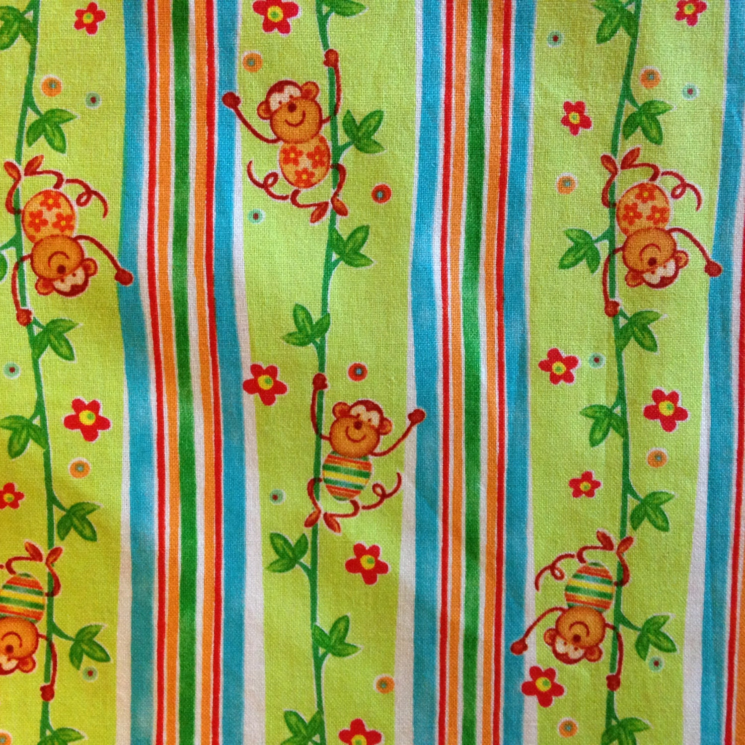 Safari sweet hearts by diane eichler fabric red for Kids jungle fabric