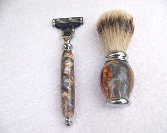 Beautiful razor & shaving brush
