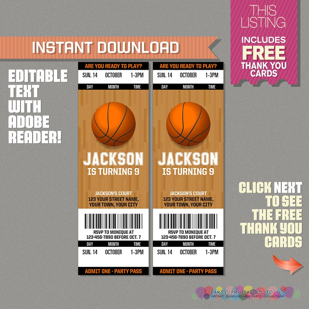 basketball invite  etsy, party invitations