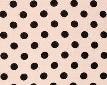 "Pink with Black Polka Dots - Robert Kaufman ""Pimatex Basics"" - Fat Quarters"