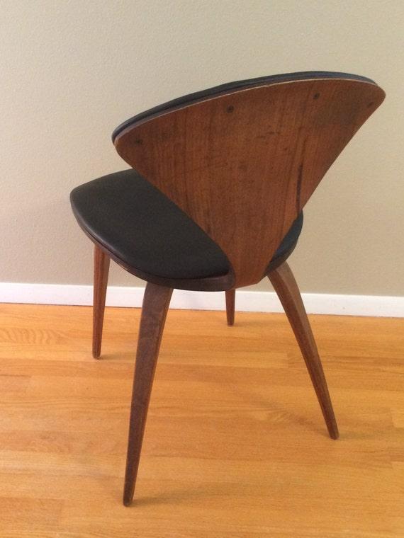 resvd for ann n cherner chair black leather plycraft. Black Bedroom Furniture Sets. Home Design Ideas