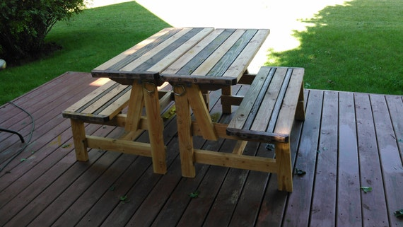 Convertible Bench To Picnic Table By Sandmannspecialties On Etsy