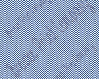 Blue and white mini chevron craft  vinyl sheet - HTV or Adhesive Vinyl -  zig zag pattern HTV1538