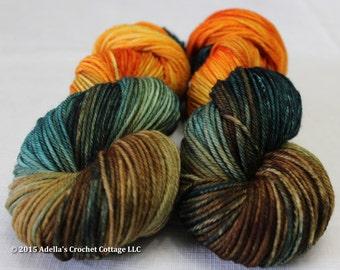 Autumn Stroll - Hand Dyed Cottage Worsted Weight Superwash Merino Yarn
