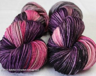 Drunken Love - Hand Dyed Cottage Worsted Weight Superwash Merino Yarn
