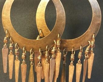 Chandelier Earrings, Bohemian Earrings, Boho Earrings, Copper Chandelier Earrings, Boho Chic Jewelry