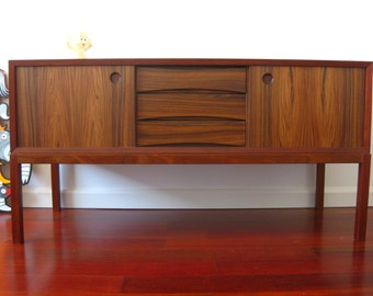 ROSEWOOD Low Dresser Chest Drawers Credenza - Mid Century Modern - scandinavian