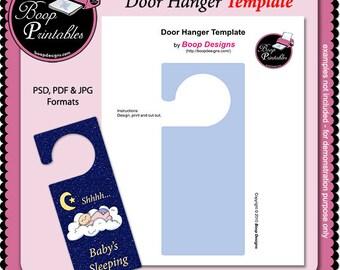 Door Hanger Sign TEMPLATE by Boop Printables