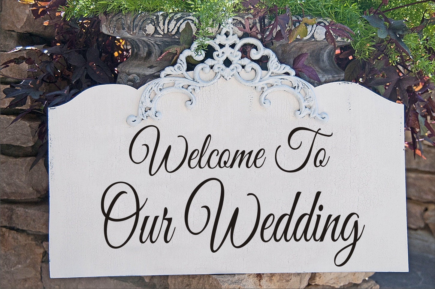 welcome to our wedding reusable stencil 6 sizes. Black Bedroom Furniture Sets. Home Design Ideas