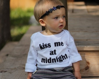 "New Year's Eve ""kiss me at midnight "" Bodysuit"