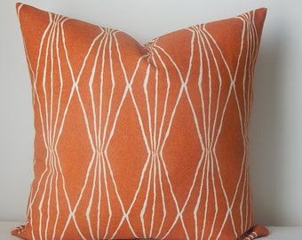 Handcut shapes byRobert Allen linen pillow or pillow cover, decorative pillow, throw pillow,accent pillows, same fabric on both sides