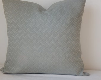 Elegant Sage Pillow Cover In a Contemporary Pattern Design