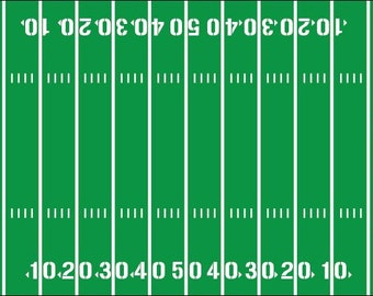 Football Field Yardline Numbers Room Decal Removable Vinyl