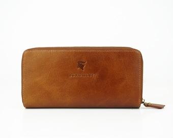 Ladies Brown Leather Purse Wallet