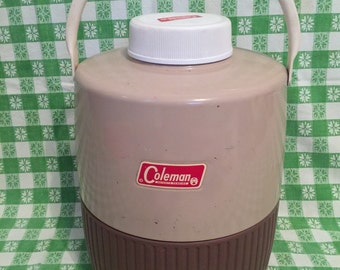 Vintage Coleman Two Gallon Picnic Water Jug- Thermos Cooler- Outdoors- Camping