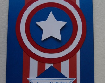 Captain America Birthday Card