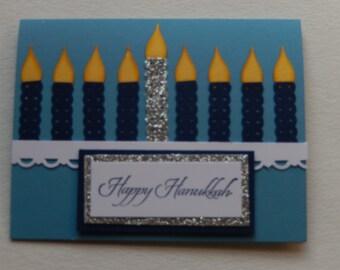 Candle Menorah Hanukkah Card
