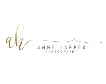 Photography logo - calligraphy gold glitter logo, gold watermark n061