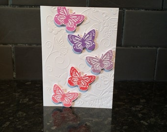 Birthday Card, Special Occasion Card, Butterfly Card, Thinking Of You Card