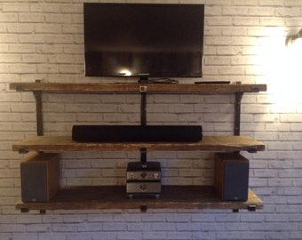 Super chunky industrial urban reclaimed shelving storage system