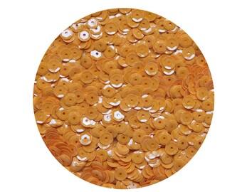 6mm Cup Sequins Facet Paillettes Opaque Golden Orange