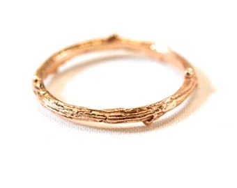 Twig Ring in 14kt gold