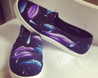 Starry Night Galaxy Shoes -- Sizes 11/9 || 9/7 || 8/6