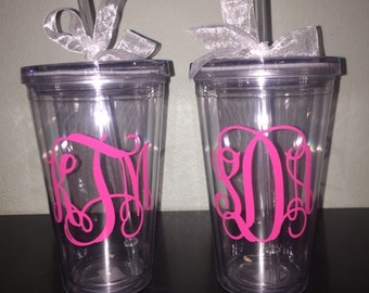 Custom Tumbler with Straw