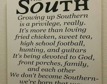 The South 12×12 customized wooden sign