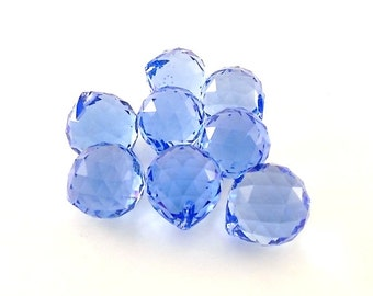 Blue Faceted Onion Briolettes 22 x 20mm Beads