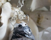 Sheltered - Crystal Shell necklace with Zeolite and Amethyst
