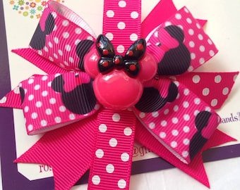 Minnie Mouse ribbon clip
