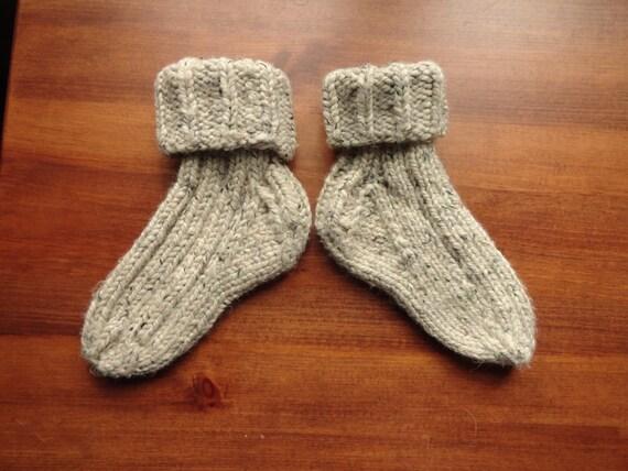 Chunky Hand-Knit Slipper Socks