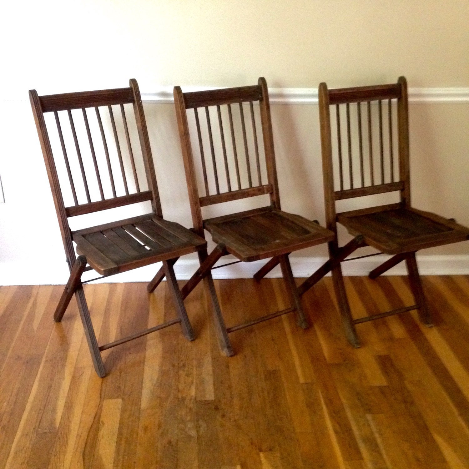 Vintage Folding Wooden Chair Set Haute Juice