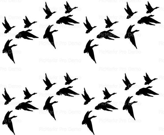 Duck Hunting Flying Ducks Designer Strips - Edible Cake Side Toppers- Decorate The Sides of Your Cake! - D20193