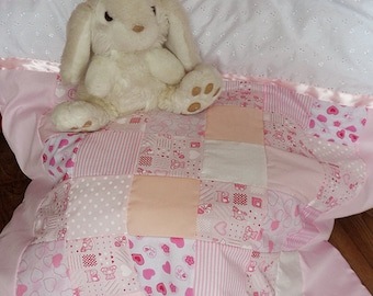 Girls Baby Cot Quilt and Bumper Set *Teddy Not Included*