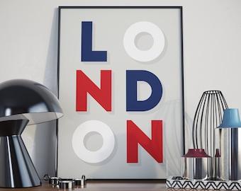 London Design Print. A3 Poster.