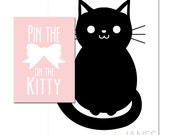 Pin the Bow on the Kitty Printables - Instant Download of digital files