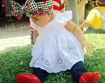 The cherry headWrap, Headwraps, baby fashion