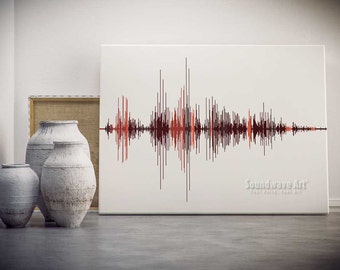 Soundwave Art™  Custom Canvas available in multiple sizes & colors