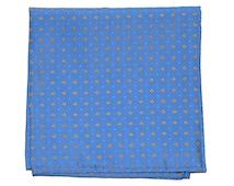 Blue & Gold Silk Pocket Square - Legato