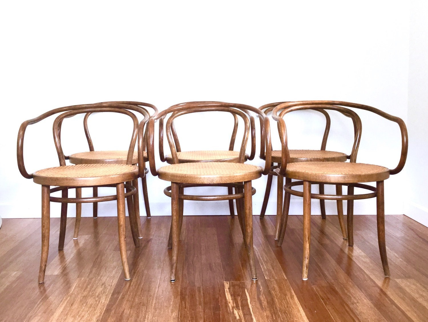 Thonet Stendig Bentwood Chairs Style Armchairs Cane Seats Dining Chairs Mid  Century Vintage Jpg 1500x1129 Bentwood