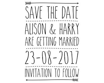 Custom Wedding, Save The Date Stamp, Personalised Rubber Stamp, Name and Date Stamp, Invitations Stamp, Favours Stamp, Custom, (cstd64)