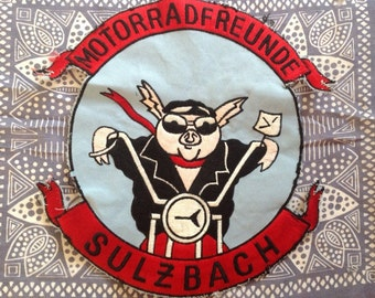 German Motorcycle back patch
