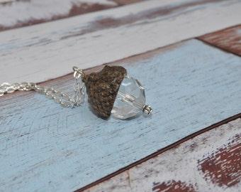 Beaded Jewelry - Acorn Necklace - Unique Jewelry