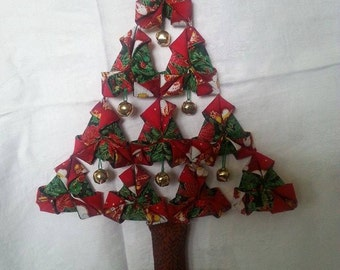 Material Origami style Christmas tree