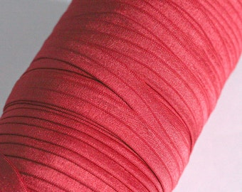 Scarlett Red Fold Over Elastic By the Metre