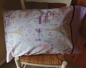 Paris & Poka Dot Pillow Case