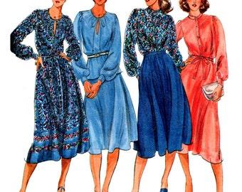 Butterick Sewing Pattern 5665 Misses' Blouse, Skirt Size:  8  Uncut